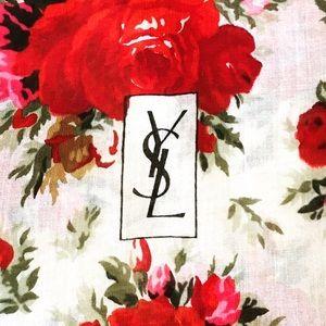 "YSL Roses Cotton XL Shawl/Pareo 55 x 52"""